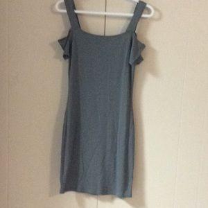 GARAGE T-Shirt Cold Shoulder Dress KHAKI Sz S